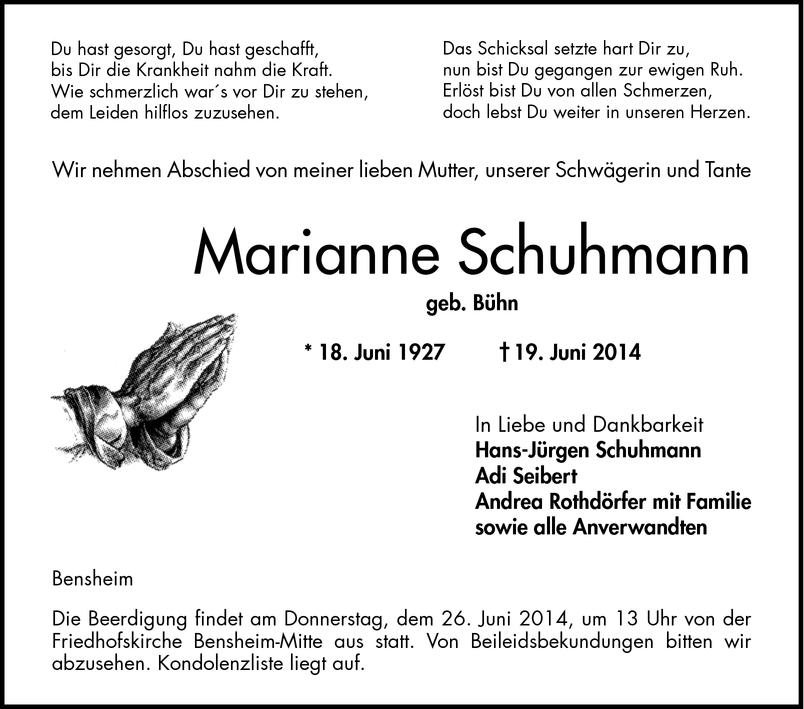 a0bfe7eb65568e Todesanzeigen - Bergsträßer Anzeiger - Trauerportal Archiv ...