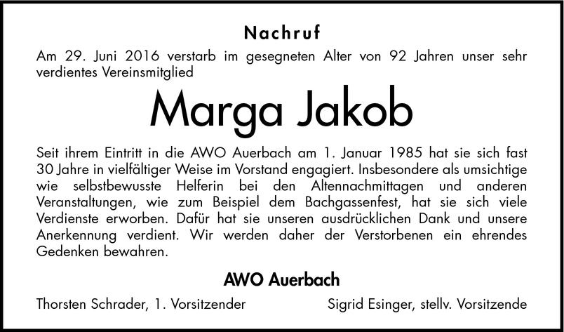 Marga Jakob Nachrufe Bergstrasser Anzeiger Trauerportal Archiv Mannheimer Morgen