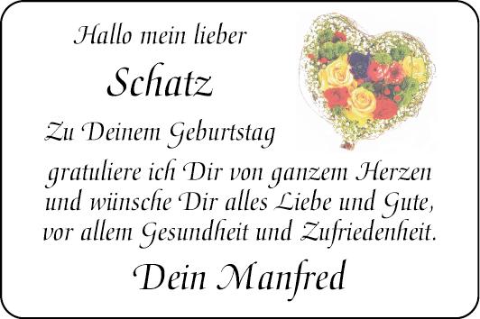 Schatz Herzliche Grusse Familienanzeigen Mannheimer Morgen